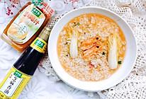 #太太乐鲜鸡汁芝麻香油#鸡汁麻油虾头泡饭的做法
