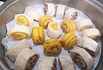 #好吃不上火#山药枣卷,南瓜肉松卷,双色卷的做法
