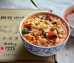 #首农Helo宝宝蛋#西红柿烩饼的做法