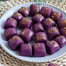 酥脆好吃的紫薯一口酥,少糖版,烘焙食谱