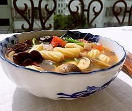 陕西关中面食烩麻食的做法
