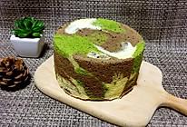 迷彩戚风蛋糕(6寸)的做法