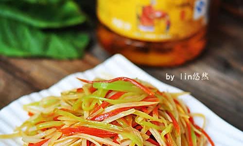 素炒三丝#金龙鱼外婆乡小榨菜籽油#的做法