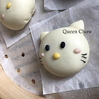 Hello Kitty猫一家人----卡通包子(豆沙馅)的做法图解11