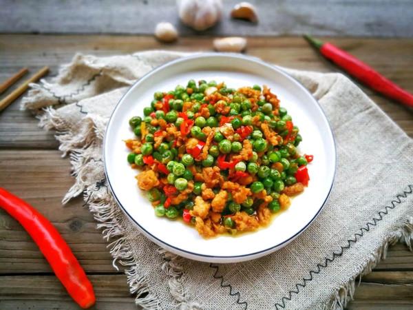 豌豆炒肉沫的做法