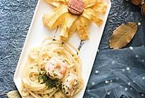 #美食新势力#蒜香鲜虾意面的做法