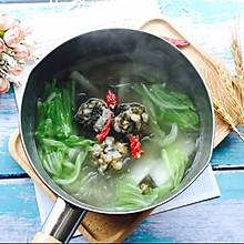 #秋天怎么吃#紫菜肉丸子大白菜粉丝汤