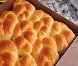 #我要上首焦#用中筋粉制作酸奶老面包的做法