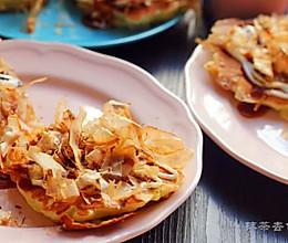 早午餐之木鱼花松饼大阪烧#自己做更健康#的做法