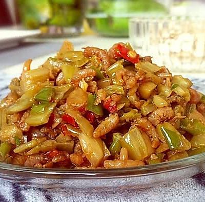 咸菜炒虾米仁