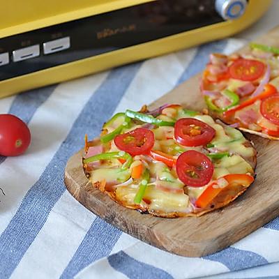 一食半刻   迷你饺子皮披萨