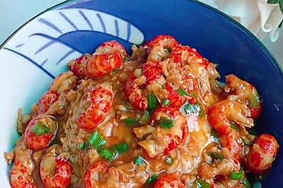 超美味的龙虾尾盖浇饭
