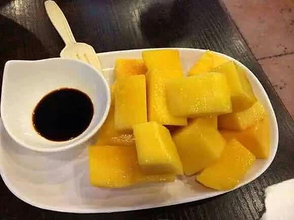 酱油芒果的做法