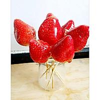 难以抗拒的小吃~冰糖草莓的做法图解5