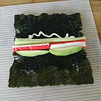 上班族的活力营养午餐 反卷寿司·加州卷·的做法图解5