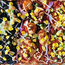 三种口味无芝士巨无霸披萨