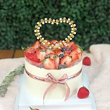 超简单水果6寸戚风生日蛋糕