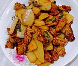 土豆片炒肉片的做法