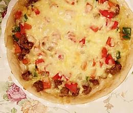 自制黑椒牛肉披萨的做法