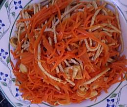 快手菜--胡萝卜炒豆腐丝的做法