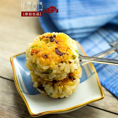【香菇鸡肉米团】外焦里嫩的飘香小食