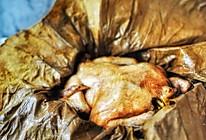 家庭版无泥烤箱版叫化鸡-只有一半的在天愿作比翼鸟的做法