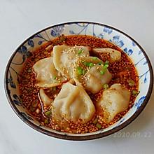 酸辣蒜辣汤水饺
