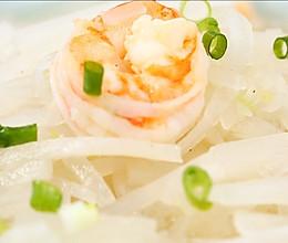 萝卜丝虾仁汤的做法