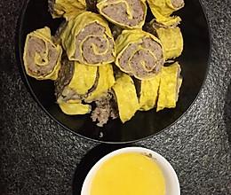 蒜香鸡蛋肉卷的做法