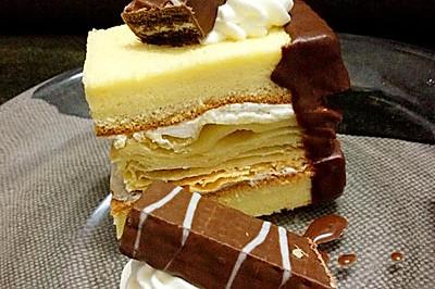 碎碎曲奇拿破仑蛋糕