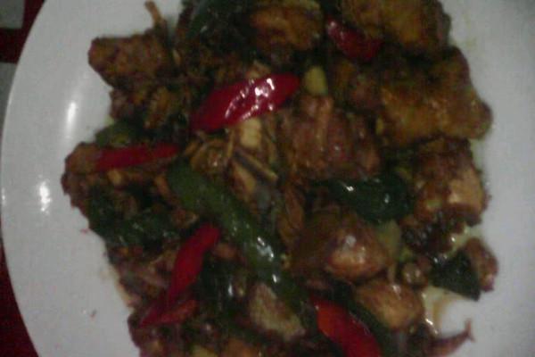 青红椒红烧鸡块的做法