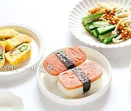 午餐肉芝士饭团