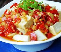 蒜蓉剁椒蒸豆腐的做法
