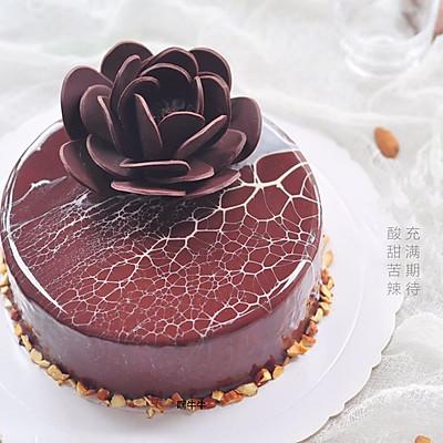 豹纹淋面蛋糕