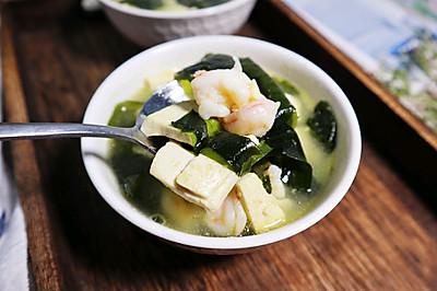 刷脂刮油❗️裙带菜虾仁豆腐汤❗️鲜美补钙又营养