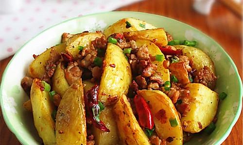肉末香辣土豆的做法