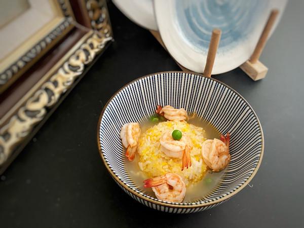 虾脑高汤泡饭的做法
