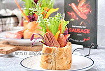法棍香肠沙拉的做法