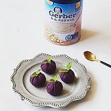 宝宝紫薯茶巾绞#嘉宝辅食宝典#