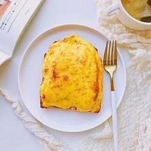 #快手又营养,我家的冬季必备菜品#蕉泥盐烧乳酪三明治
