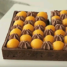 芒果巧克力挞