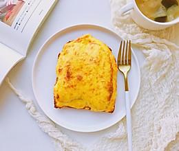 #快手又营养,我家的冬季必备菜品#蕉泥盐烧乳酪三明治的做法