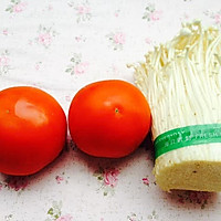 吃过就会爱上--番茄烩金针菇的做法图解1