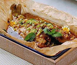 #以美食的名义说爱她#干饭人绝对不能放过的经典蒜香纸包鱼