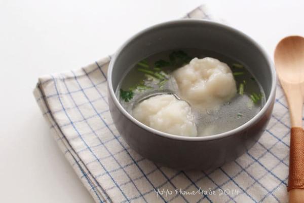 巴沙鱼圆汤的做法