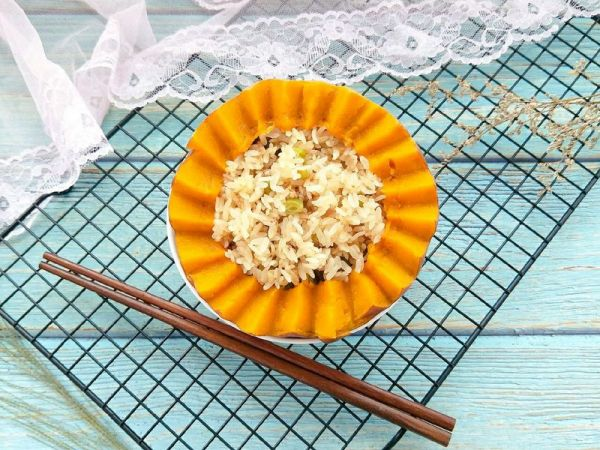 南瓜蒸饭的做法