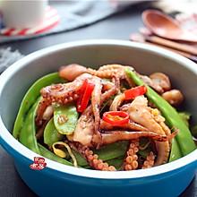 #花10分钟,做一道菜#麻辣章鱼炒荷兰豆