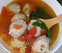 低脂茄汁鱼丸蔬菜汤的做法