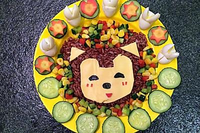 缤纷阿狸红米饭