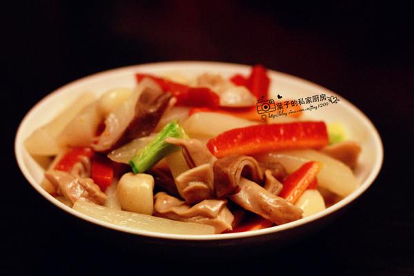 上汤肚条烧杂蔬的做法